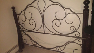 Beautiful Cast Iron head and foot boards