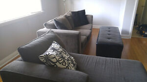 Grey Sofa & Shayz Lounge - Used
