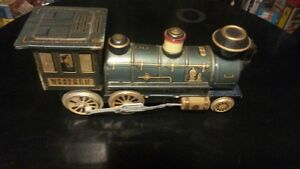 Tin Litho Western Train Engine London Ontario image 2
