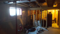 Need drywall hung in basement.  Drywall in basement already!