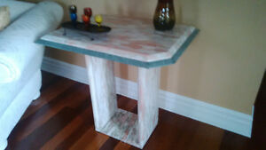 Set of Marble Coffee table and marble Side table West Island Greater Montréal image 2