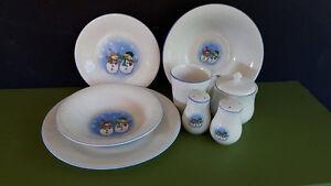 Set de vaisselle d'hiver pour 12 personnes