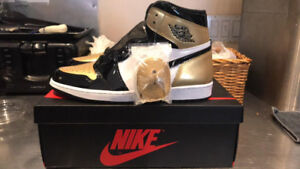 Jordan 1 Gold Toe deadstock with receipt size 13