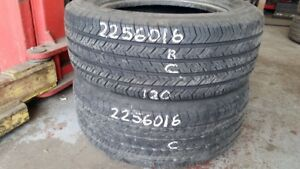 Pair of 2 Michelin X Radial 225/60R16 tires (70% tread life)