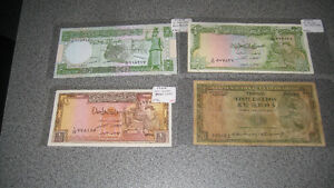 large collection of foreign paper money