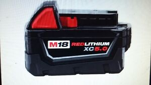 MILWAUKEE M18 RED LITHIUM XC 5.0 BATTERY