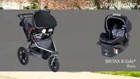 BOB Britax B-safe seat & base & adapter for Revolution stroller