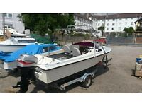 19ft sports fisher, Mariner 2 stroke 2004 ELPTO 90hp. All on a road worthy roller trailer.