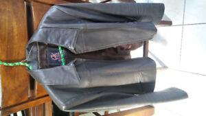 Manteau cuir véritable Akoury