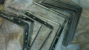 12 Zinc-plated Corner Braces 6 inch by 1 inch