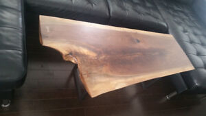 LIVE EDGE WALNUT Coffee Table BRAND NEW ~ Condo/TownHome