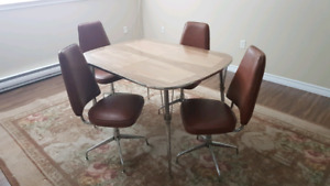 Vintage chrome dining table set