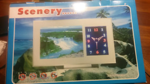 Clock waterfall scenery $15