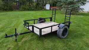 Utility Trailer with Loading Ramps, new paint job