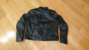 Women`s black leather jacket
