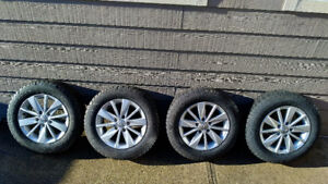 New set of Winter Tire Goodyear Nordic on aluminum VW Rims