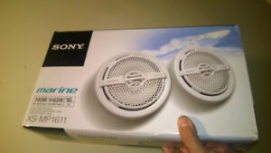 "Sony XSMP1611 6.5"" Dual Cone Marine Speakers (White)"