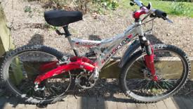 "Barracuda Showdown 26"" wheels Full suspension bike bicycle"
