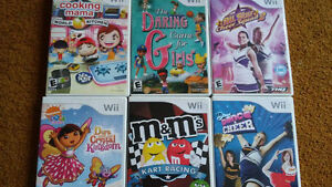 Various Wii games for kids