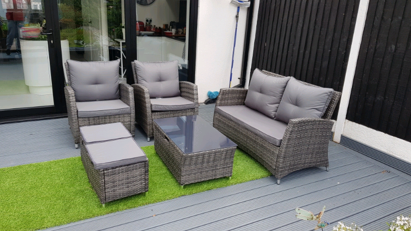 Awesome Rattan Garden Furniture 6 Seater Sofa Set With Storage In Coventry West Midlands Gumtree Pdpeps Interior Chair Design Pdpepsorg