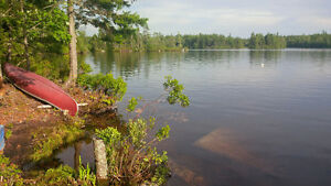 A priceless south facing private island bay on Aylesford Lake