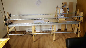 Grace quilt frame and Janome 1600P Sewing Machine