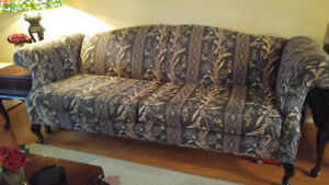 French Queen Anne Sofa and Loveseat