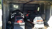 Package deal 2 sleds with double wide enclosed trailer