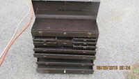 KENNEDY VINTAGE MACHINE TOOL  BOXES, TOOL CHEST