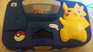 Pokémon Pikachu N64 w/matching controller, cables, and game