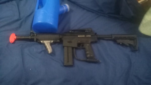 Paintball gun and canister
