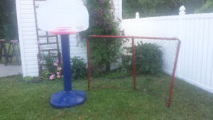 But Hockey, panier basket junior très propre, trampoline 12 pied