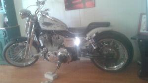 Harley-Davidson sporster avec fourche springneur