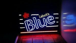 Labatt's Blue neon sign only used several years