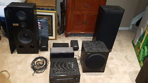 6.1 Suround sound system with power subwoofer