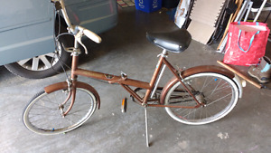 Raleigh folder bicycle, vintage bike