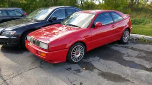1991 VW CORRADO G60. NEEDS SUPERCHARGER. NO RUST.