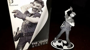 Black and White Joker statue