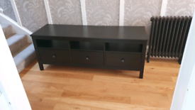 Ikea Hemnes TV bench unit black brown