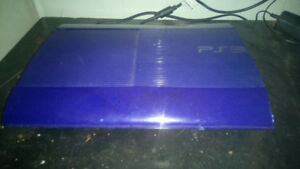 used ps3 blue. comes with everything you need. works great