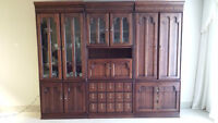 Solid Cherry Wall Unit