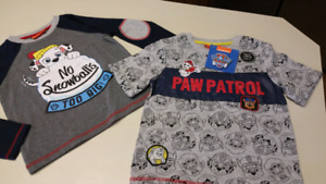 5T Paw Patrol shirts...(2)..BRAND NEW WITH TAGS