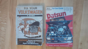 VW and Datsun Books / Manuals for one price