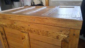 Large Trunk wooden chest handmade ash and pine Peterborough Peterborough Area image 6
