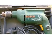 Bosch CSB 520-2E Corded Hammer Drill complete with Chuck Key