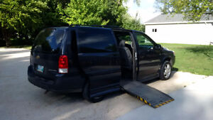 2008 Chevrolet Uplander with Side Entry Wheelchair Conversion
