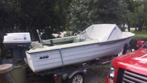 14ft. Fibreglass Boat, Motor & Trailer