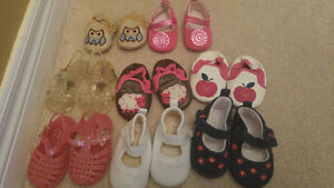 Size 1 and 2 girl's baby shoes