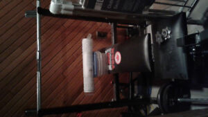 Bench press and dumbells