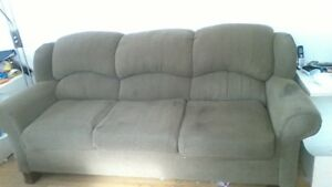 Matching sofa & love seat, very comfy,